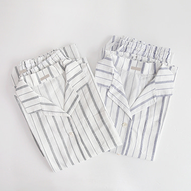 [J]Home Cotton Stripe SET(2C)