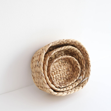 natural seagrass basket set (3P)